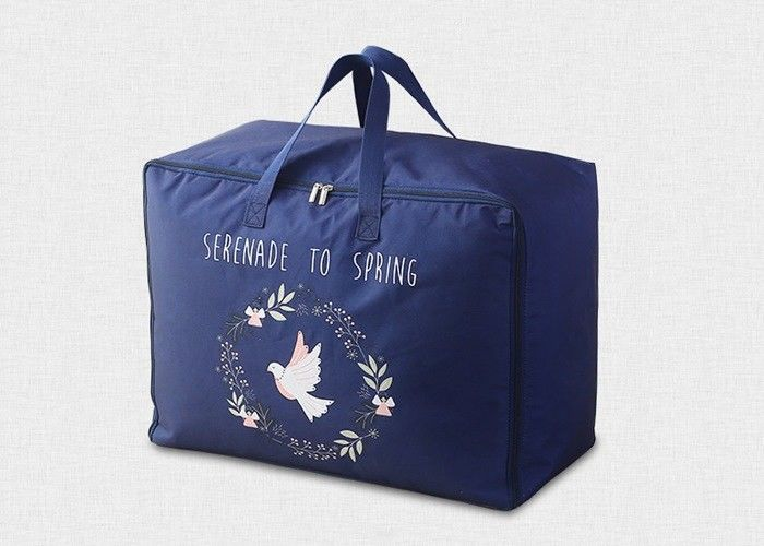 Waterproof Woven Reusable Grocery Tote Bags Handled Large Storage With Oxford Cloth supplier