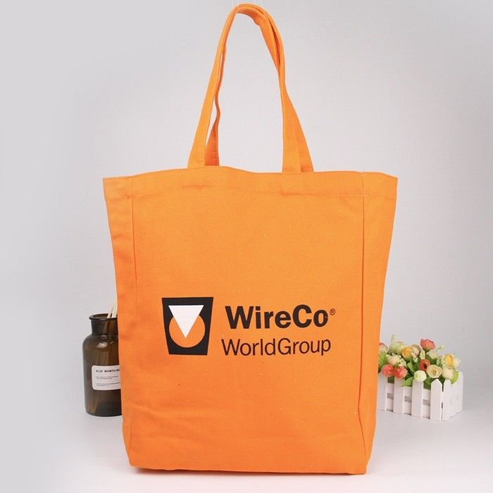 Organic Canvas Cotton Cloth Printed Reusable Shopping Bags With Logos For Advertisement supplier